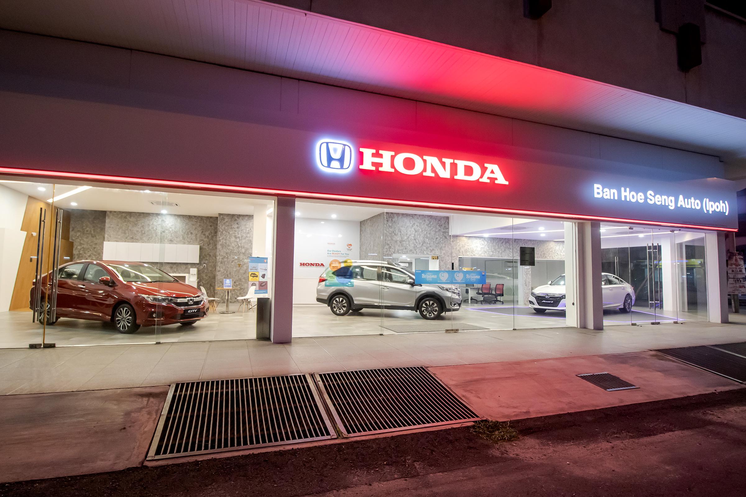 Honda Jalan Raja Permaisuri Bainun (formerly Jalan Kampar).